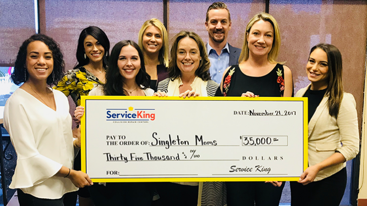 Service King Contributes $35,000 to Singleton Moms of Phoenix